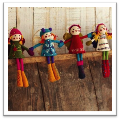 Handmade Felt Alpine Girls from Paper High