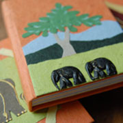 Elephant dung notebooks