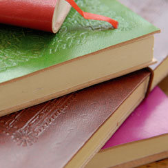Coloured Leather Notebooks