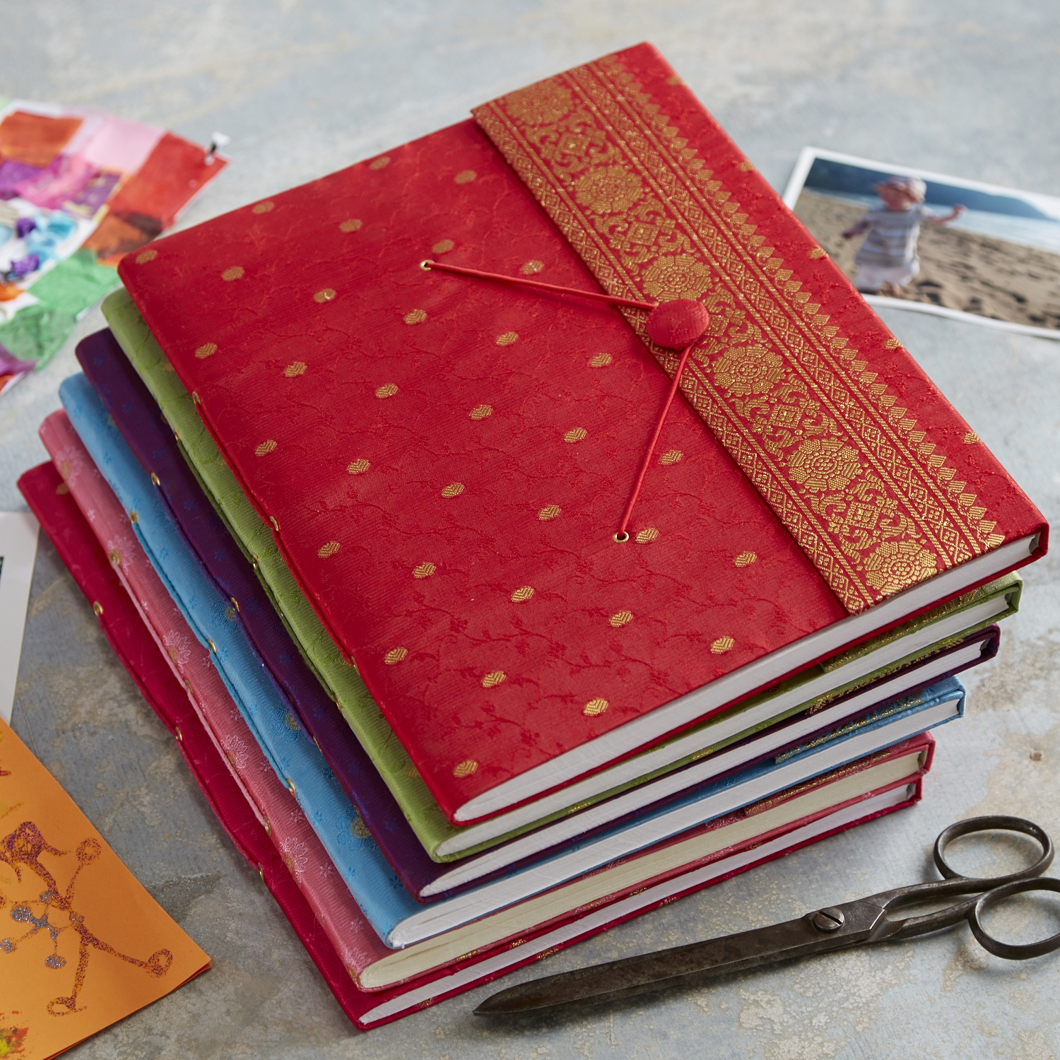 Fabric and Elephant Dung Photo Albums