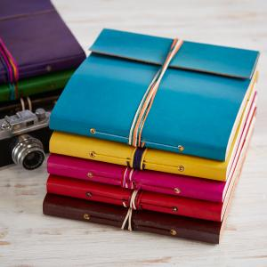 Three String Leather Photo Albums