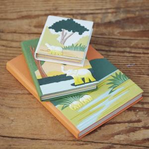Fabric and Elephant Dung Journals