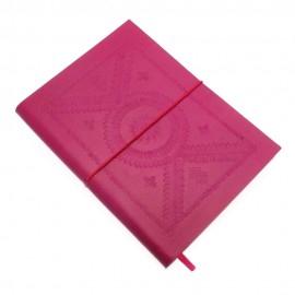 Large Fuchsia Embossed Notebook
