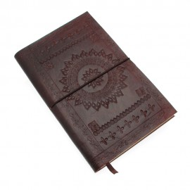 Large Chocolate Embossed Notebook