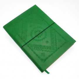 Large Green Embossed Notebook