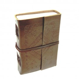 Small Embossed Leather Journal