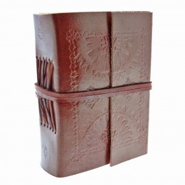 Mini Embossed Leather Journal