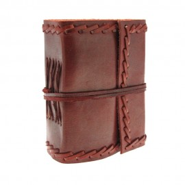 Mini Stitched Leather Journal