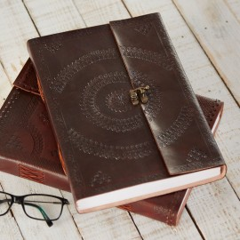 Indra Embossed Leather Bound Journal A4