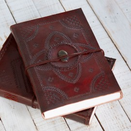 Indra A4 Embossed Stoned Journal