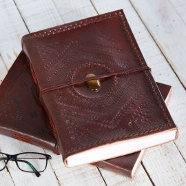 Indra A4 Stitched Emboss Stone Journal