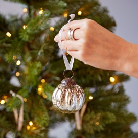 Small Antique Effect Christmas Bauble