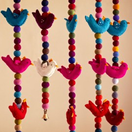 Fun Felt Bird Hanging