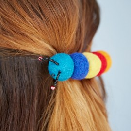 Felt Caterpillar Hair Clip