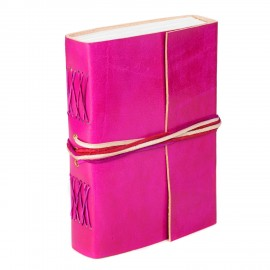 Leather 3-String Cerise Leather Journal