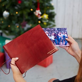Personalised 'Christmas With' Leather Photo Album