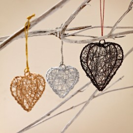 Metallic Heart and Star Decorations (x2)
