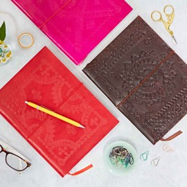 Large Coloured Embossed Notebook
