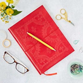 Large Red Embossed Notebook