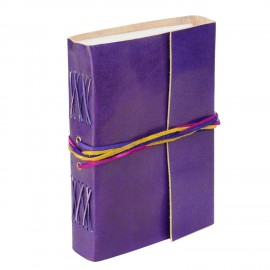 Leather 3-String Purple Leather Journal
