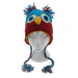 Colourful Owl Woollen Animal Hat