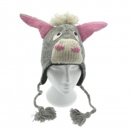 Donkey Woollen Animal Hat