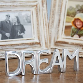 Recycled Stainless Steel Dream Sign