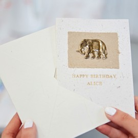 Personalised Elephant Dung Greeting Card