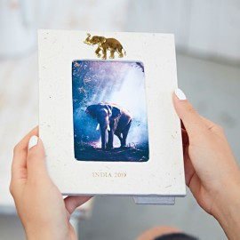 Personalised Elephant Dung Photo Frame