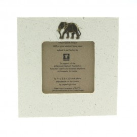 Small Elephant Dung Photo Frame