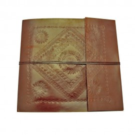 Large Embossed Leather Album