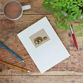 Large Elephant Dung Paper Notebook