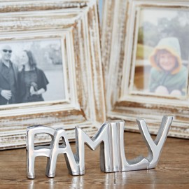 Recycled Stainless Steel Family Sign