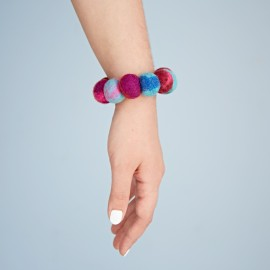 Felt Swirly Ball Bracelet
