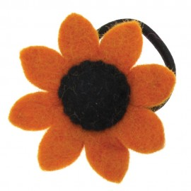 Felt Sunflower Hair Band / Bobble (x3)