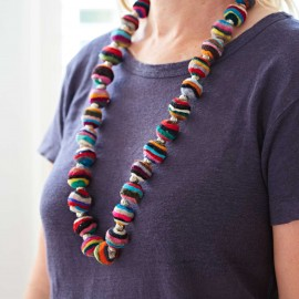 Felt Swirly Ball Necklace