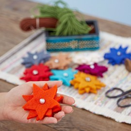 Felt Flower Brooch (x3)