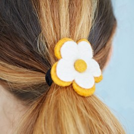 Felt Flower hair band / Bobble (x6)