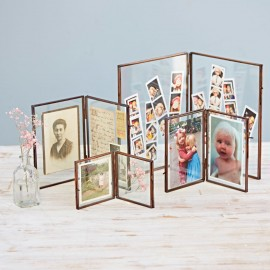 Antique Brass Double Photo Frame