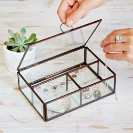 Glass Compartment Jewellery Box