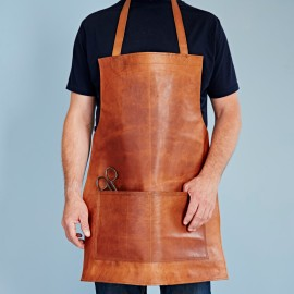 Personalised Distressed Leather Apron