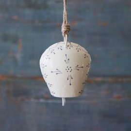 Hand Painted Cream Iron Bell