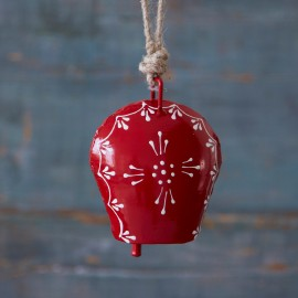 Hand Painted Red Iron Bell