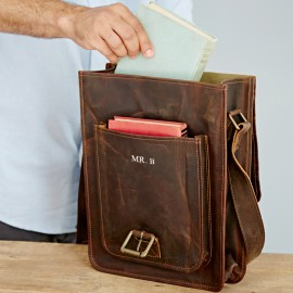 Personalised Buffalo Leather Messenger Bag