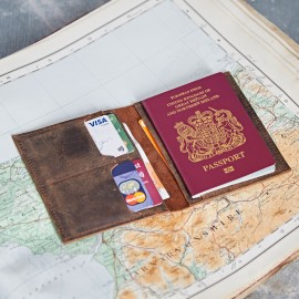Personalised Buffalo Leather Passport Holder