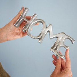 Recycled Metal Home Sign