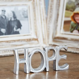 Recycled Stainless Steel Hope Sign