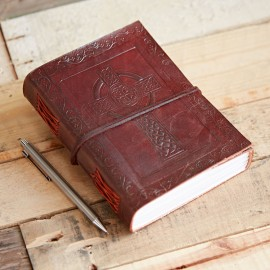 Indra Celtic Cross Leather Journal