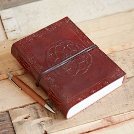 Indra Celtic Knot Leather Journal Notebook