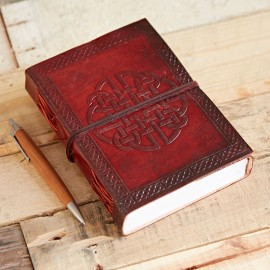 Indra Celtic Quaternary Knot Leather Journal